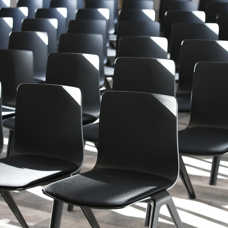 Chairs in row