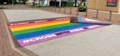 University installs rainbow crossings to celebrate Pride Month