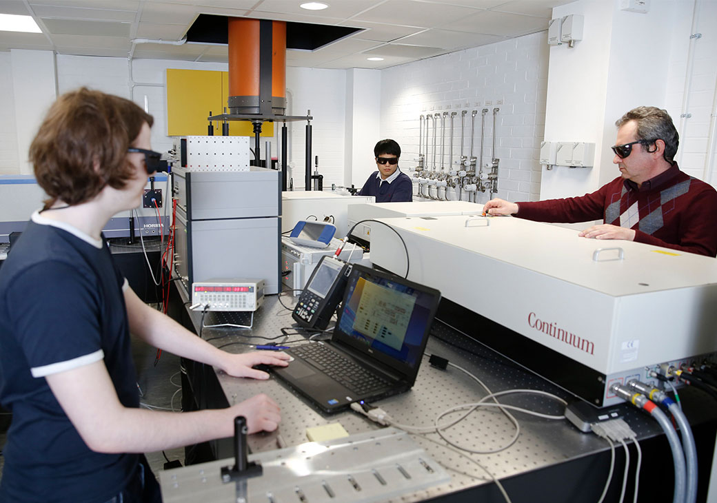 Group of people undertaking STEM research