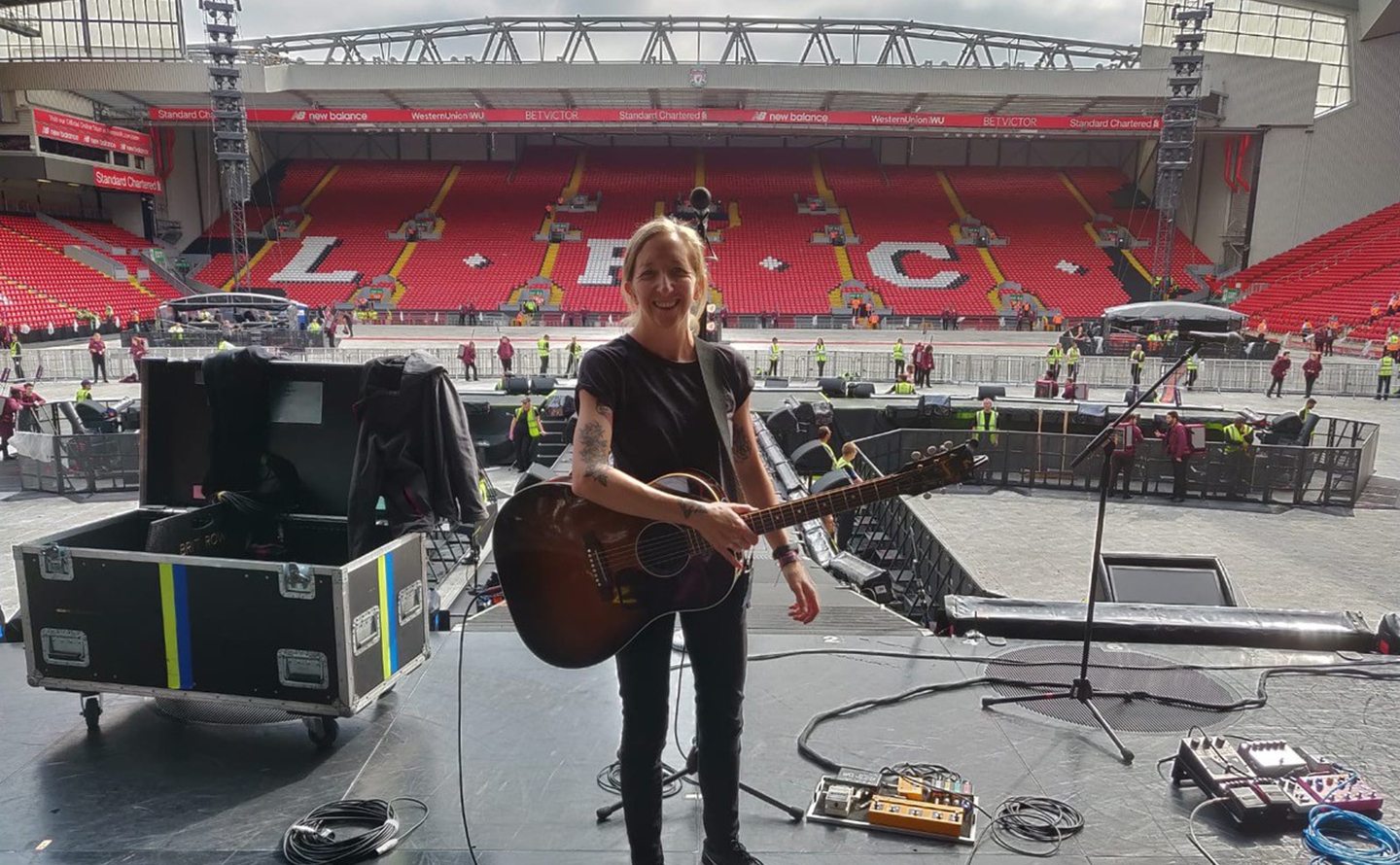 Claire Murphy at Anfield