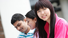 International students outside