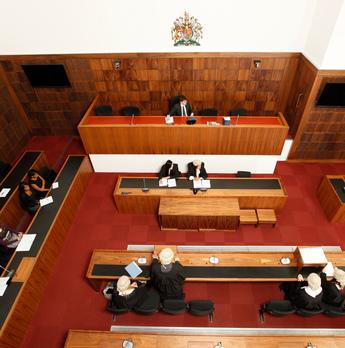 Law court practice in progress