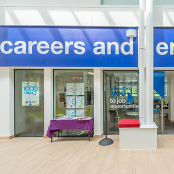 Entrance to Careers service office