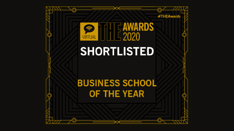 Shortlisted for Business School of the Year (Times HE Awards 2019)