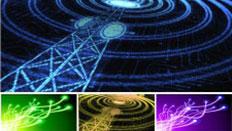 Telephone mast emitting signal