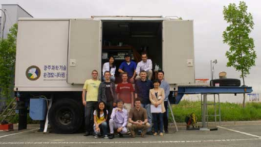 Lidar team at GIST, May 2011