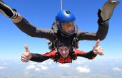Alumnus takes on charity tandem sky dive challenge