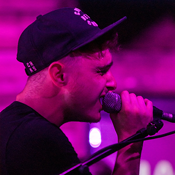 A singer performing