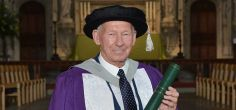 Former international football star and charity founder honoured by the University
