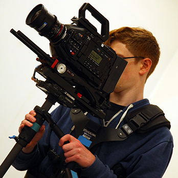 Film and Television student with camera