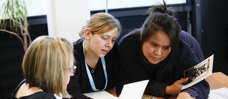 Student teachers in classroom