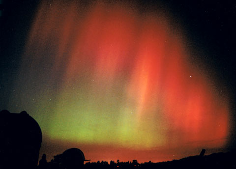 Northern lights over Bayfordbury