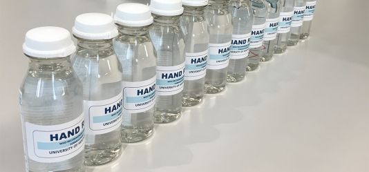University of Hertfordshire produces hand sanitiser to help keep NHS and social care staff safe