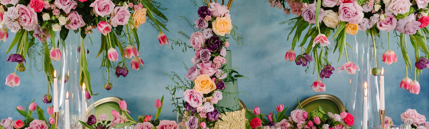 Wedding cake on a top table