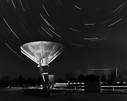 Star trails over the Forrest telescope
